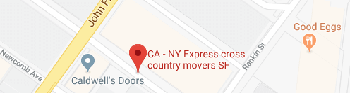 CA - NY Express Long Distance Movers San Francisco