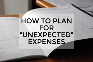 Unexpected expenses banner